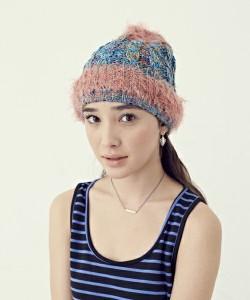 夏のニット帽